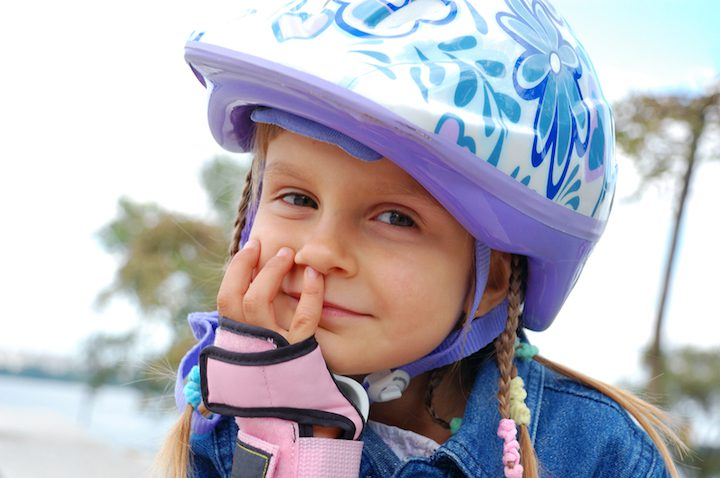 Fahrradhelme fuer Kinder | © panthermedia.net / Cherry-Merry